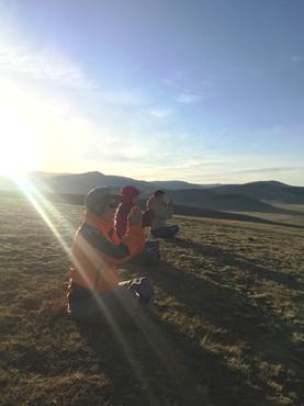 선무도 해외연수 몽골초원에서의 명상