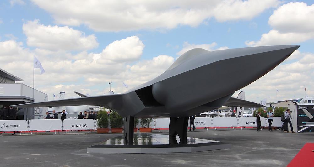 Le NGF sera la pièce maitresse du futur système de combat aérien du futur (SCAF). Quatre milliards d'euros seront consacrés à la mise en vol d'un démonstrateur à l'horizon 2026.© Frédéric Lert/Aerobuzz.fr