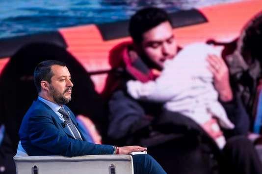 Matteo Salvini, sur les plateaux de la RAI, le 20 juin. ANGELO CARCONI / AP