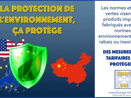 La protection de l'environnement, ça protège