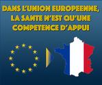 UE: La santé n'est qu'une compétence d'appui