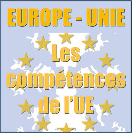 Répartition des compétences au sein de l'Union Européenne