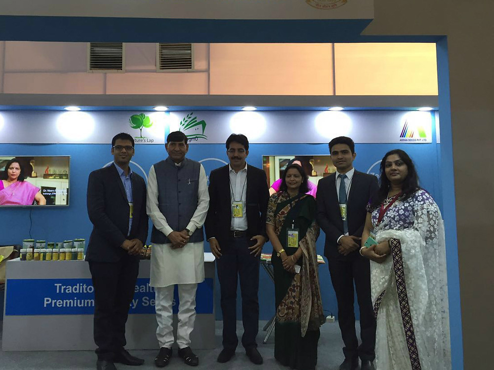 Startup Founders with Shri Mohanbhai Kalyanjibhai Kundariya, Union Minister of State for Agriculture and Farmer Welfare in the Government of India.