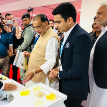 Agriculture Minister of India Radha Mohan Singh Ji visiting Harvesto