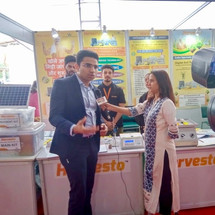 Harvesto's Director Mr Harsh Dahiya being interview by a TV channel