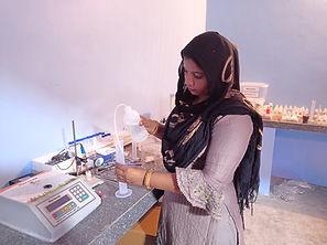 Women Entrepreneur Haryana using Harvesto Soil Testing Kit.JPG