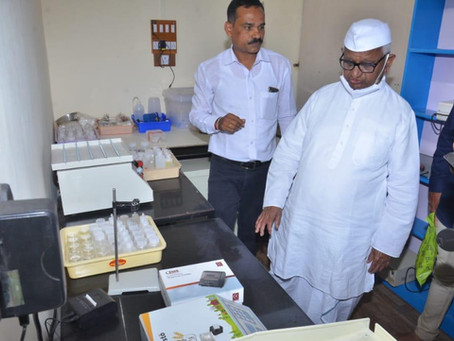 Harvesto Soil Testing Lab inaugurated by Shri Anna Hazare