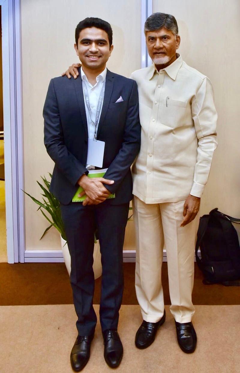 Harvesto's Director Mr Harsh Dahiya with Hon'ble Chief Minister Shri Chandra Babu Naidu