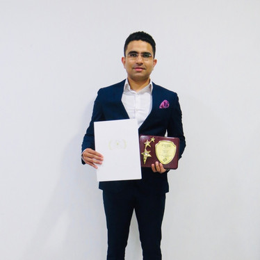 Entrepreneur of the Year award - Harsh Dahiya, Director Harvesto