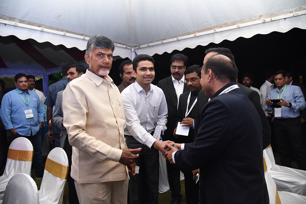 Hon'ble Chief Minister Shri Chandra Babu Naidu introducing Mr harsh Dahiya to IAS officers of Government of Andhra Pradesh at the dinner hosted by the CM