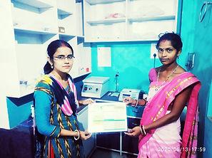 Soil Health Card given by women entrepreneur using Harvesto Soil Testing Kit.JPG