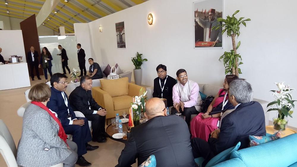 Harvesto's Chairman Mr Dahiya in Morocco