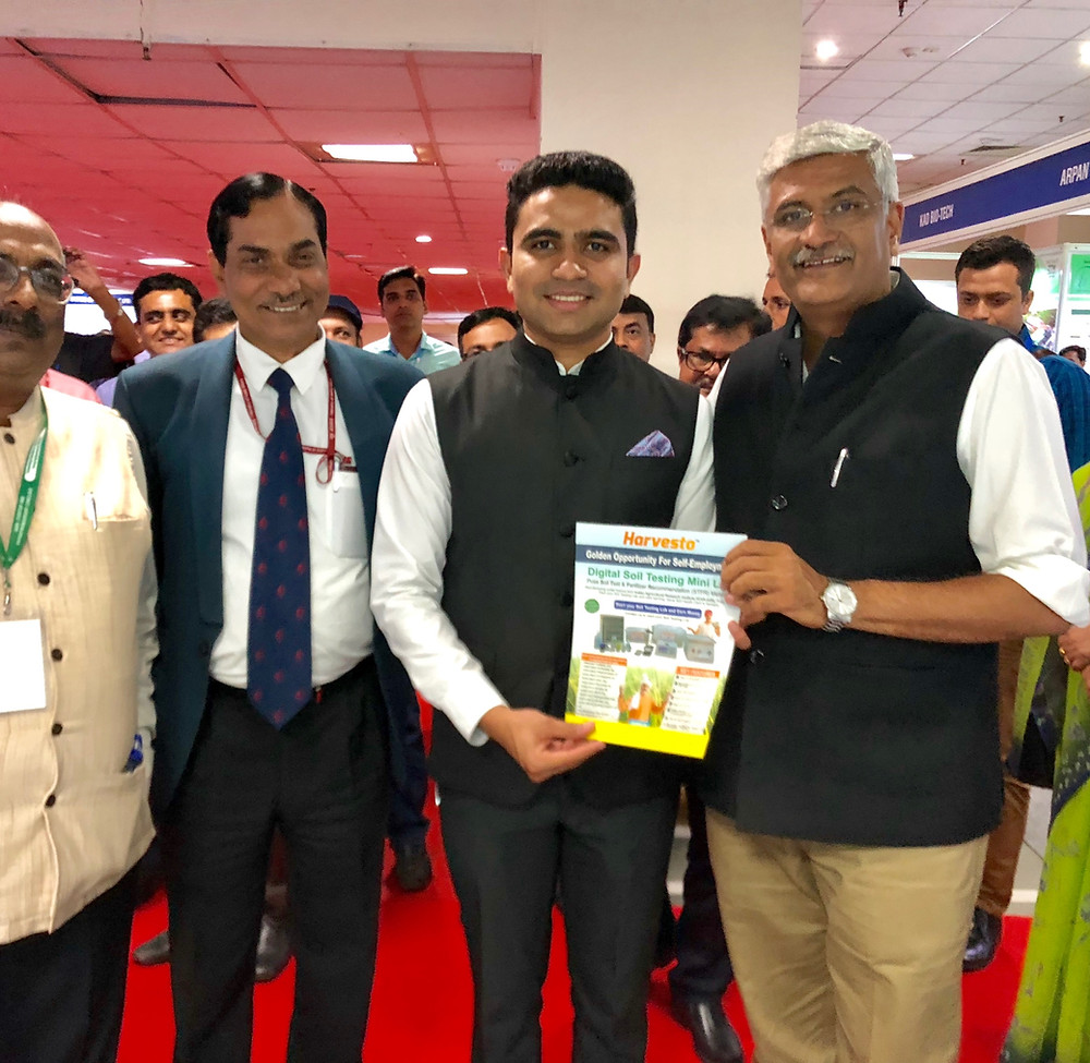 Harvesto's brochure launched by Shri Gajendra Singh Shekhawat, Union Cabinet Minister, Union Cabinet Minister in Ministry of Jal Shakti