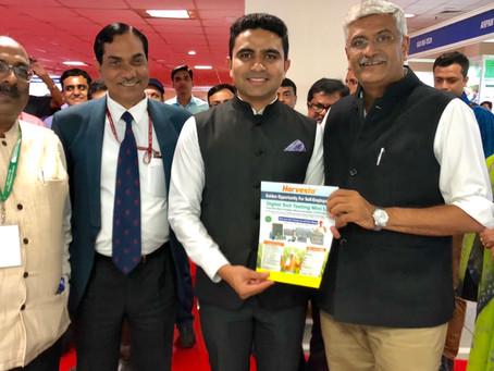 Harvesto's brochure launched by Shri Gajendra Singh Shekhawat, Union Cabinet Minister