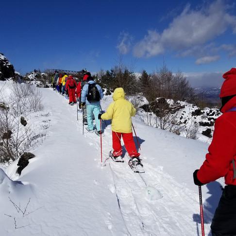 浅間山スノーシュートレッキング モニターツアー リリースのご案内