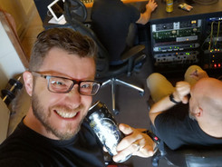 Recording with Slash's beer