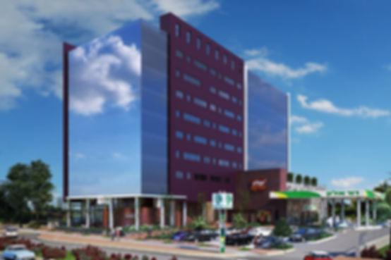 Offices building - Expanded mesh – corten - porcelain