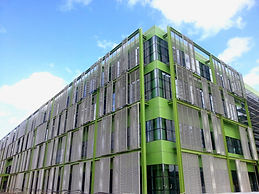 İzmir Adnan Menderes Airport Parking Building - Anodised Aluminum Expanded Mesh Facade - Istanbul_Turkey