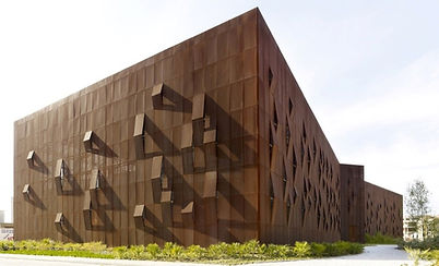 Raif Dinçkök Cultural Cente, Turkey - Perforated Corten Steel Façade