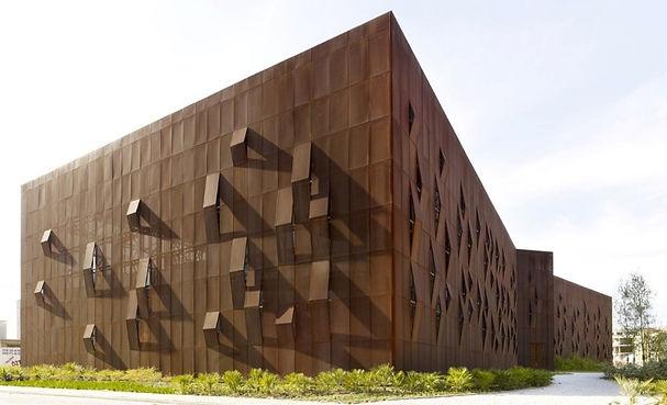 Raif Dinçkök Cultural Cente, Turkey - Perforated Corten Steel Façade