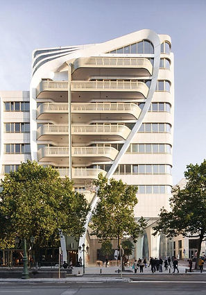 Le Toison d_Or - Powder Coated Aluminum Laser Pattern Cut Balcony and Facade - Brussels_Belgium