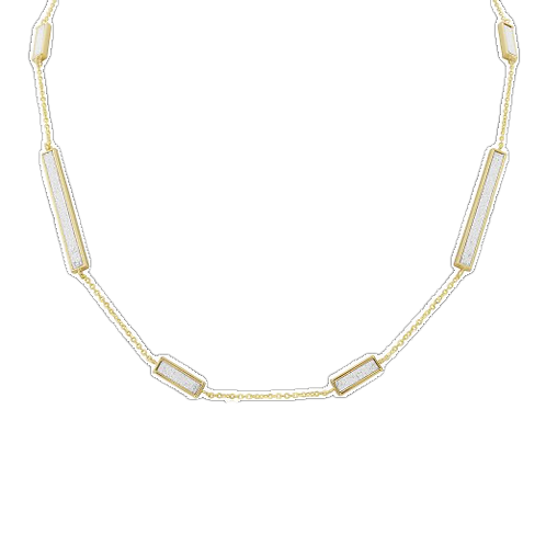 9ct Yellow Gold Glitter Bar Necklace