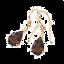 Smokey Quartz & Diamond Earrings