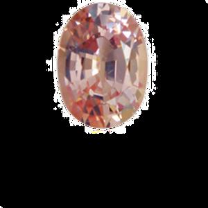 Orange-Pink Sapphire  1.43ct