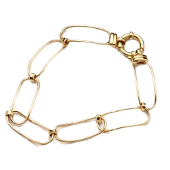 9ct Rectangle Link Chain