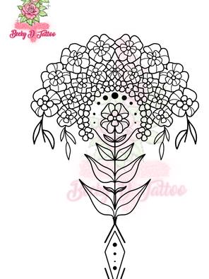 Multi-Bloom (Authentic 70's Wallpaper)