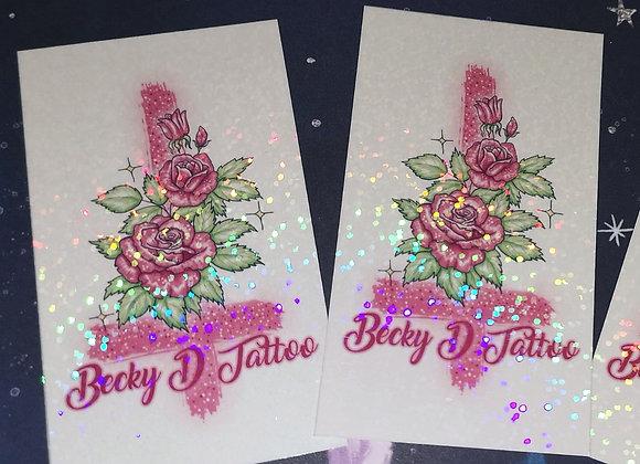 Becky D Logo - Glitter Sticker