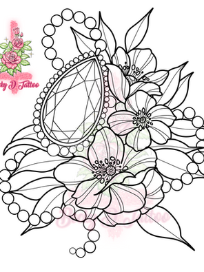 Florals & Gem