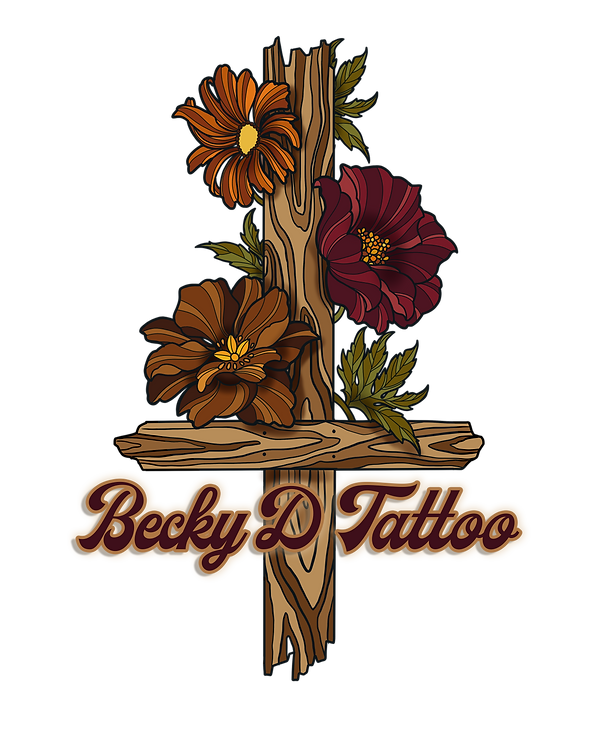 Becky D Tattoo 1970s Style Logo.png
