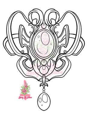 Art Nouveau  Brooch (Small)