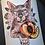 Thumbnail: Peach - Art Print (w/ REAL PAW PRINT)