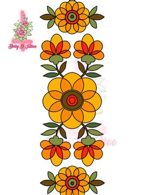 Autumn Gold (Authentic 70's tablecloth trim)