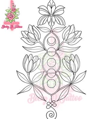 Symmetrical Florals #2