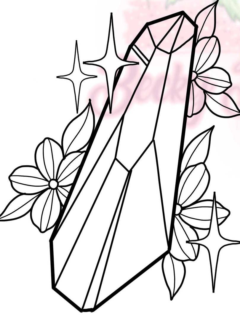 Crystal w/ Flowers #3