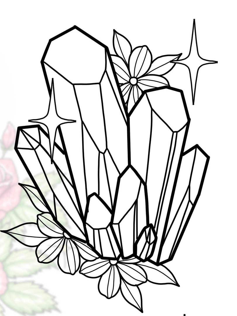 Crystal w/ Flowers #2