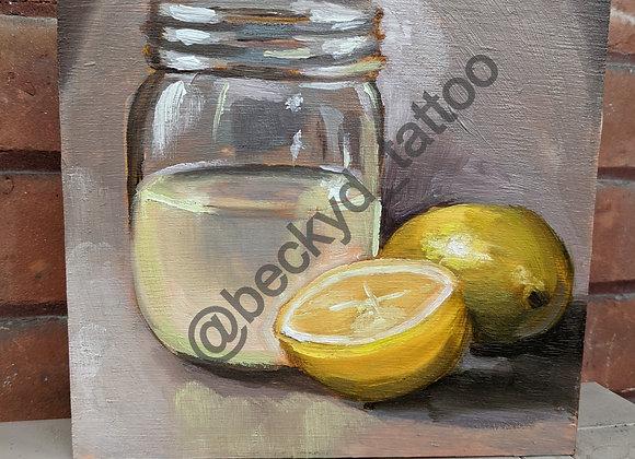 """""""Lemonade"""" Oil Study"""
