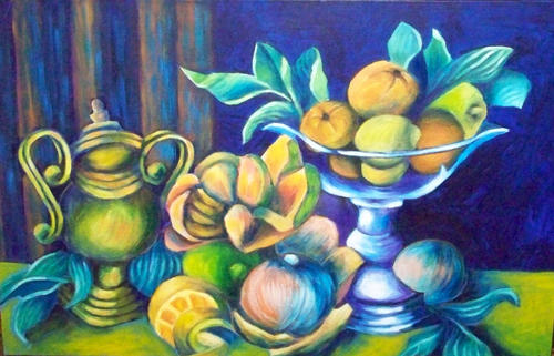 Still Life with Urn and Fruit