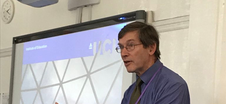 Prof Michael Reiss begins his first talk