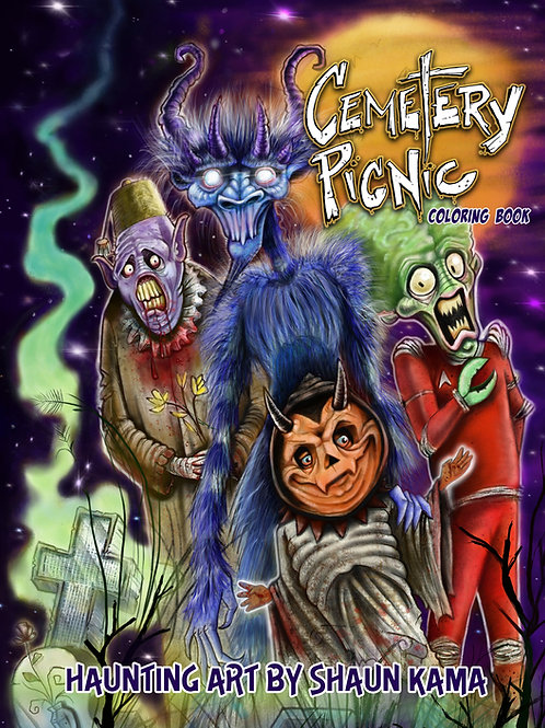 Cemetery Picnic - Coloring Book