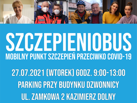 Szczepieniobus w Kazimierzu!