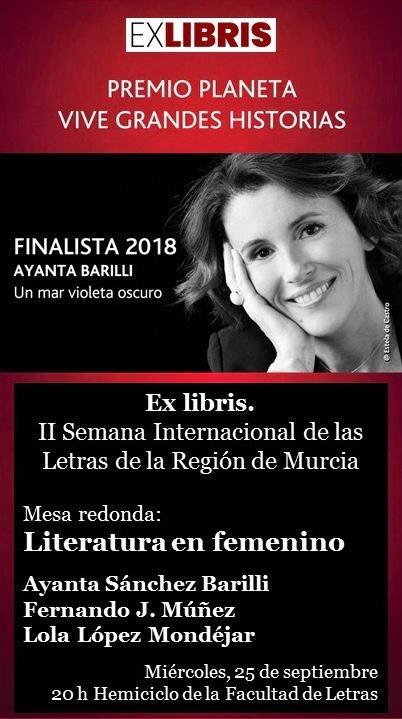 EX LIBRIS II SEMANA INTERNACIONAL DE LAS LETRAS DE LA REGION DE MURICA