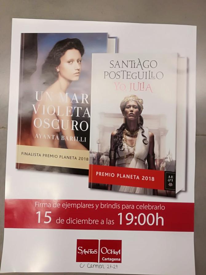 Firma de libros en librería Santos Ochoa (Cartagena)