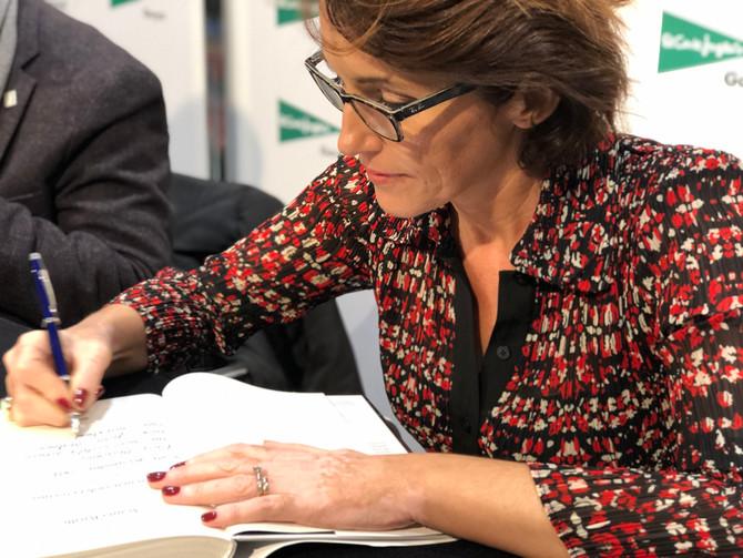 Firma de libros en el Corte Inglés de Paseo de la Castellana (Madrid)
