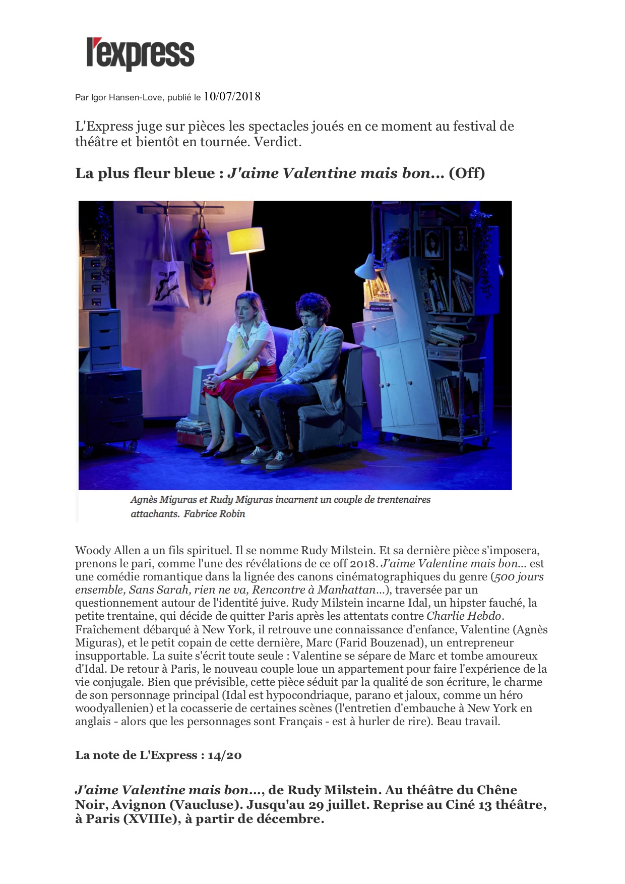 L'Express.fr 10.07.18