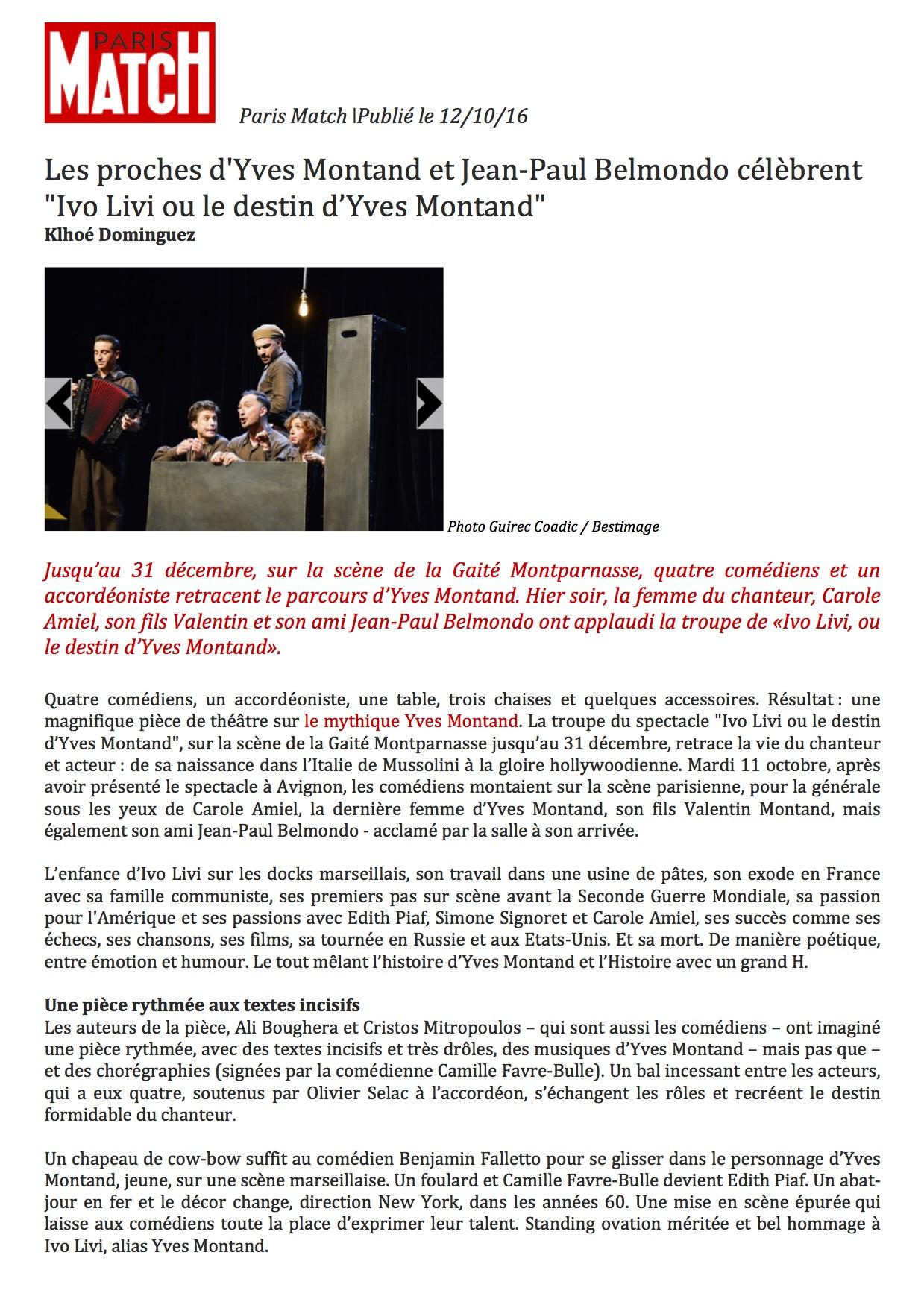 Paris Match.com 12.10.16