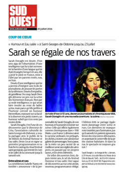Sud Ouest 20.07.16
